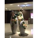 大提籃花器 (y14967 花器系列 - 落地花器-亮白)3入一組