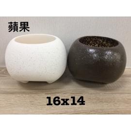 y15720 花器系列-陶花器 蘋果造型花器-共2款顏色