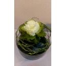 米白長盆造型花藝-y15346-花藝設計.花材果樹