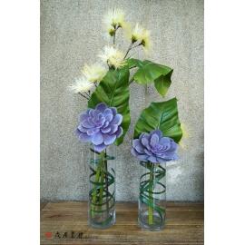 y15880 現代多肉花藝設計 (花藝設計-茶几用直立式花藝) / 對