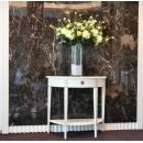 y13843 花藝設計 玄關桌.電視櫃盆花  白玫瑰花藝設計