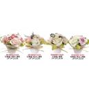 y14113 花藝設計.花材果樹-小品盆花- 玫瑰盆(深粉+淺粉)共4款