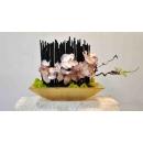 y14402 花藝設計- 玄關桌.電視櫃盆花 - 蝴蝶蘭造型花藝設計