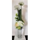 y14406 花藝設計- 茶几用直立式- 圓玻璃花器造型花藝