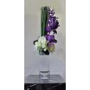 y14413 花藝設計- 茶几用直立式- 萬代蘭造型花藝(紫)