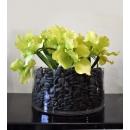 y14415 花藝設計- 玄關桌.電視櫃盆花- 圓型玻璃花器造型花藝
