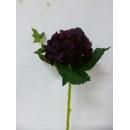 短支複片繡球-深紅色(y14667  花藝設計 花材材料 精緻人造花 枝花 繡球花)