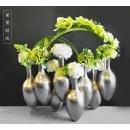 花藝-萬貫延財_香檳銀 (y14674 花藝設計- 玄關桌.電視櫃盆花 - 造型花藝設計)
