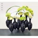 花藝-萬貫延財_禪境黑 (y14675 花藝設計- 玄關桌.電視櫃盆花 - 造型花藝設計)