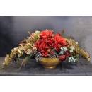 桌上造型花藝-金盆-y15320-花藝設計.花材果樹