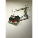 y15726 花藝設計.花材果樹 花藝設計-壁式花藝-窗框造型花藝