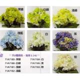 y15868 花藝設計-精緻人造花-枝花-繡球花丶雞蛋花-春色泡泡繡球花/藍色(共8色)