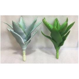 y15883 花藝設計-精緻人造花-多肉植物-麗人蘆薈/2款顏色~灰綠.綠