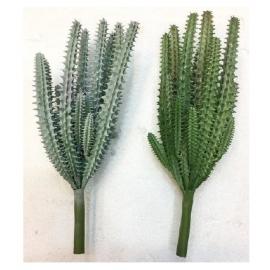 y15889 花藝設計-精緻人造花-多肉植物-修羅小刺 共2款顏色 綠.紅綠