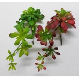 y15891 花藝設計-精緻人造花-多肉植物-魔鬼吊藤  共2款顏色 綠.紅