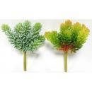 y15893 花藝設計-精緻人造花-多肉植物-9叉綠玉樹  共2款顏色  灰白.紅綠