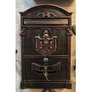y12292 鑰匙盒.信箱-信箱  城堡信箱 古銅色 (另有白色.金色可選購)
