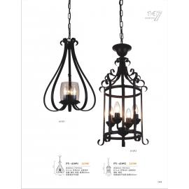 工業風鐵籠造型吊燈(y14760 燈飾 吊燈)