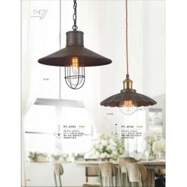 工業風仿銅烤漆吊燈(y14765 燈飾 吊燈)
