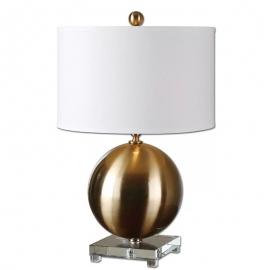 y15989 燈飾.電扇系列 - 桌燈 -金色圓球桌燈