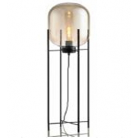 y15992燈飾.電扇系列 - 立燈 -黑色鐵藝北歐簡約立燈