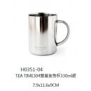 y16031餐具器皿 咖啡茶具-雙層直身杯
