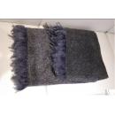 銀色鑲羽毛邊床尾毯(y14789 地毯,桌旗,抱枕,布品 )