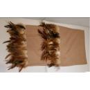 駝色鑲羽毛邊床尾毯(y14790 地毯,桌旗,抱枕,布品 )