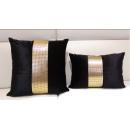 現代簡約風鑲鑚黑色抱枕-小抱枕(y14793 地毯,桌旗,抱枕,布品 )-共3色 黑色.紫色.銀色