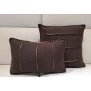咖啡紅色滾邊腰/抱枕(y14808 地毯,桌旗,抱枕,布品 )-共2色 咖啡紅色.灰色