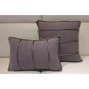 灰滾邊腰/抱枕(y14809 地毯,桌旗,抱枕,布品 )-共2色 咖啡紅色.灰色