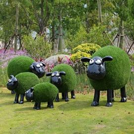 戶外卡通草皮羊 y16413 庭院擺飾品-擺飾 / 立體雕塑.擺飾 立體擺飾系列 動物.人物系列/大型仿真動物.園林草坪庭院景觀裝飾