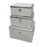 灰色鋼框首飾盒-套3 (y14681 辦公室及梳妝台用品.名片座- 梳妝台用品)