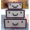 白色麻布/牛仔布箱子-套3 (y14676 樣品書、電視、道具- 道具商品)