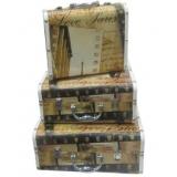 赫本手提箱-套3 (y14678 樣品書、電視、道具- 道具商品)