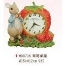 比得兔草莓桌鐘-y15281-比得兔系列
