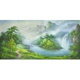 山水風景(聚寶盆)-王一威-y11518  畫作系列-油畫