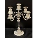 合金玫瑰五頭燭台擺飾(白)y15125 立體擺飾系列-器皿花器系列