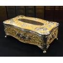 合金水鑽玫瑰面紙盒(黃) y15123 傢俱系列-面紙盒 另有(黑.白.粉紅.紅)