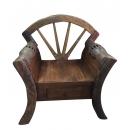 柚木有抽屜椅Y14985 傢俱系列 實木家具