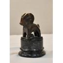 雕塑擺飾 (y15073  銅雕石雕狀小羊  銅雕動物)