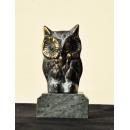 雕塑動物擺飾 (y15095 銅雕笑貓頭應