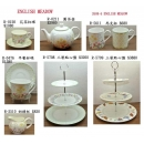 餐具組系列y13655 新品目錄- 花茶杯碟.點心盤組系列- R-5709三層點心盤