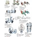 陶瓷.陶瓷電鍍y13700 新品目錄- 陶瓷.陶瓷電鍍+鐵材擺飾 情侶貓立姿擺飾2入