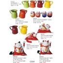陶瓷擺飾系列y13851 新品目錄- 陶瓷擺飾系列-四色陶瓷壺(大)