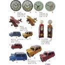 鐵藝系列y13892 新品目錄- 鐵藝時鐘.鐵藝模型汽車飛機擺飾 ---Mini汽車(超大板)3色-C款紅色(藍色.黃色.紅色)