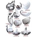 陶瓷電鍍系列y13921 新品目錄--陶瓷電鍍擺飾--白銀仕女果盤