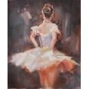 畫作系列 y15079  油畫人物系列- 舞蹈題材(人物)系列- 芭蕾舞者