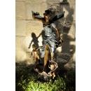 銅雕系列-銅雕人物-天使女與小天使 y14223 立體雕塑.擺飾 人物立體擺飾系列-西式人物系列