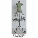 鐵藝模特兒飾品架-y15136-鐵材藝術系列-鐵材擺飾